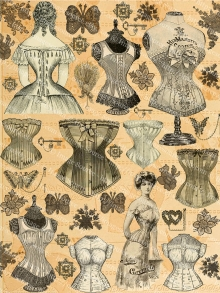 Victorian Corsets and Lace Clipart Printable