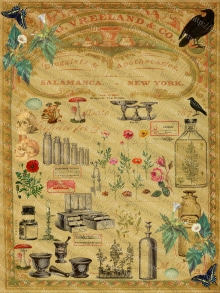 Victorian Apothecary Scrapbook, Medicines and Poisons, Digital Download